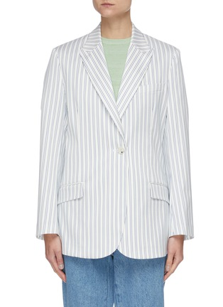 Main View - Click To Enlarge - PORTSPURE - Vertical Stripe Single Breast Blazer