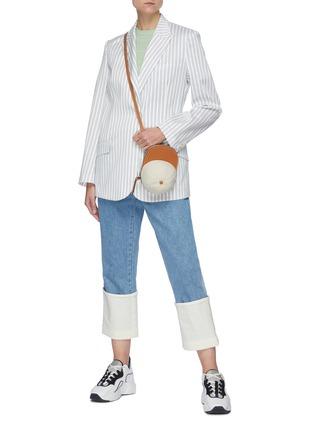 Figure View - Click To Enlarge - PORTSPURE - Vertical Stripe Single Breast Blazer