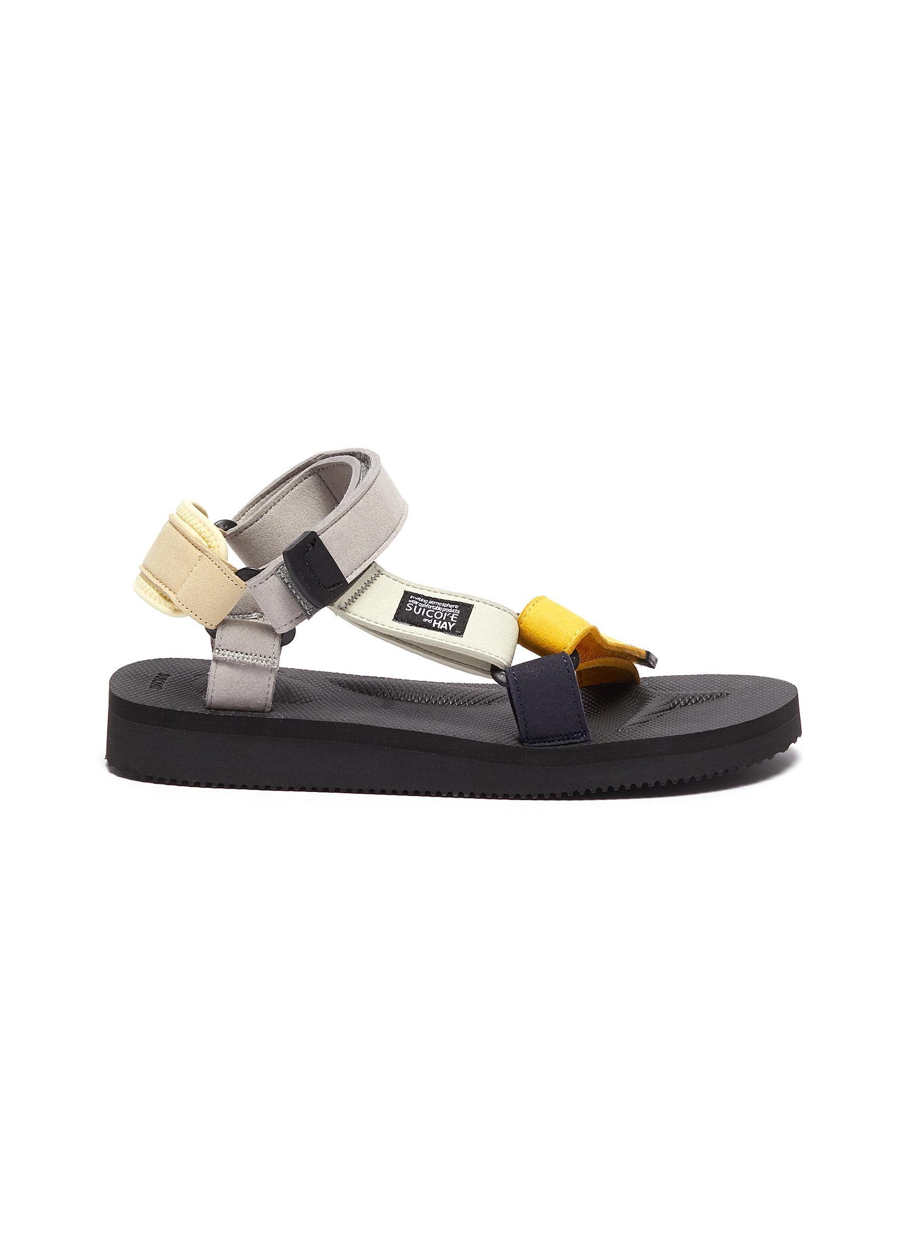 X HAY 'Depa' Colourblock Strap Platform Sandals - SUICOKE - Modalova