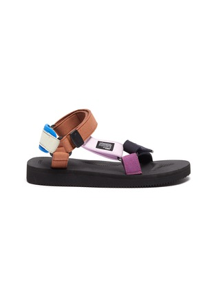 Main View - Click To Enlarge - SUICOKE - x HAY 'Depa' Colourblock Strap Platform Sandals