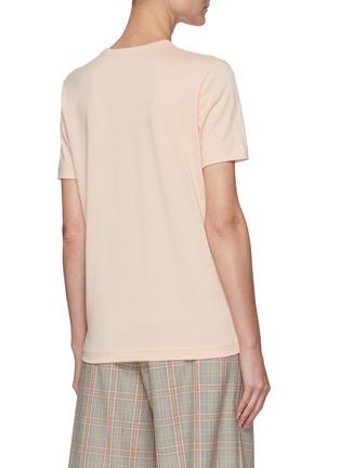 Back View - Click To Enlarge - ACNE STUDIOS - Face Logo Patch Cotton Crewneck T-shirt