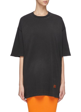 Main View - Click To Enlarge - ACNE STUDIOS - EYCK Spray Face Oversized T-Shirt