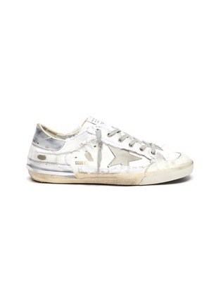 Main View - Click To Enlarge - GOLDEN GOOSE - Superstar' deconstructed lace-up sneakers