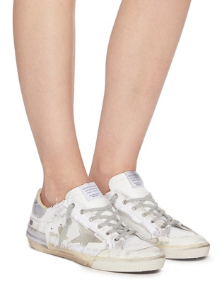 Figure View - Click To Enlarge - GOLDEN GOOSE - Superstar' deconstructed lace-up sneakers