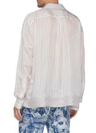 Back View - Click To Enlarge - TOGA VIRILIS - Cupra Stripe Shirt