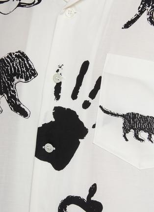 - TOGA VIRILIS - Ink Stamp Print Shirt