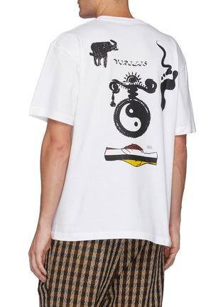 Back View - Click To Enlarge - TOGA VIRILIS - Graphic Print Crewneck T-Shirt