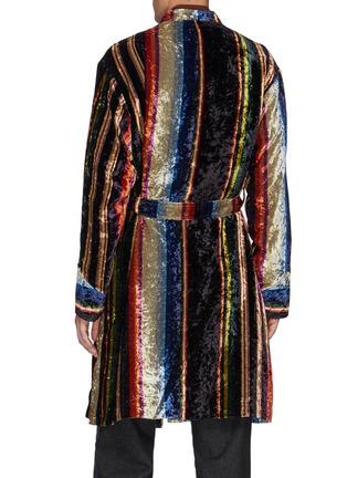 Back View - Click To Enlarge - TOGA VIRILIS - Striped Velvet Dressing Gown Coat