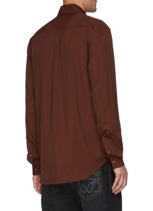 Back View - Click To Enlarge - TOGA VIRILIS - Rope Embroidery Rayon Shirt