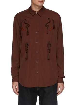 Main View - Click To Enlarge - TOGA VIRILIS - Rope Embroidery Rayon Shirt