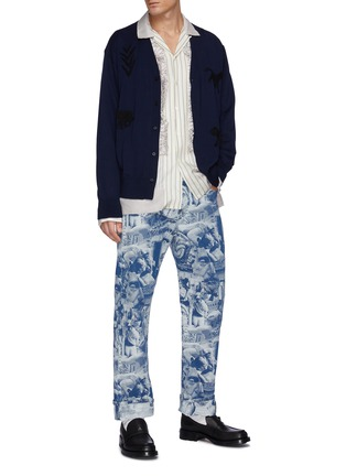 Figure View - Click To Enlarge - TOGA VIRILIS - Animal Embroidery High Gauge Knit Cardigan