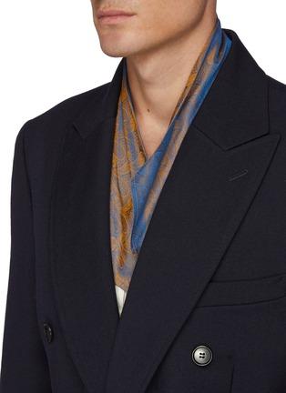 Detail View - Click To Enlarge - TOGA VIRILIS - Belted Layered Back Hem Double Breasted Gabardine Coat