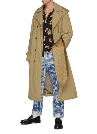 Figure View - Click To Enlarge - TOGA VIRILIS - Nylon Padding Long Coat