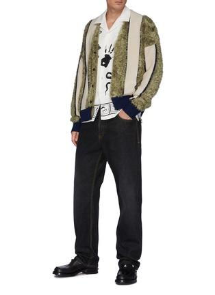 Figure View - Click To Enlarge - TOGA VIRILIS - Stripe Knit Cardigan