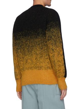 Back View - Click To Enlarge - TOGA VIRILIS - Graduation' Side Stripe Ombré Wool Blend Jumper
