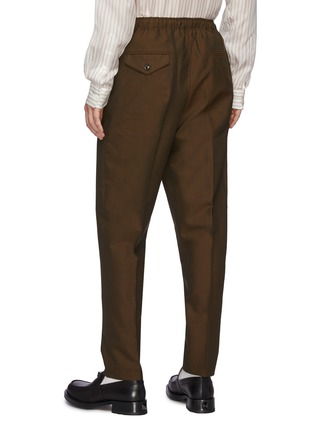 Back View - Click To Enlarge - TOGA VIRILIS - Pleated Wool Blend Balloon Pants
