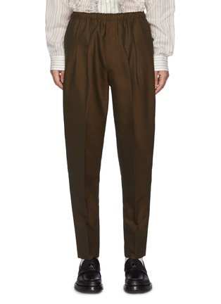Main View - Click To Enlarge - TOGA VIRILIS - Pleated Wool Blend Balloon Pants