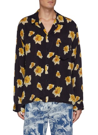 Main View - Click To Enlarge - TOGA VIRILIS - Floral Print Shirt