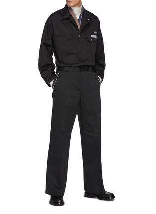 Figure View - Click To Enlarge - TOGA VIRILIS - Zip-up Shirt