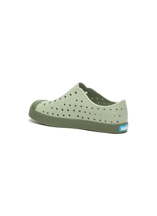 Detail View - Click To Enlarge - NATIVE - 'Jefferson' perforated kid slip-on sneakers