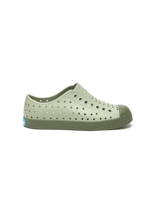 Main View - Click To Enlarge - NATIVE - 'Jefferson' perforated kid slip-on sneakers