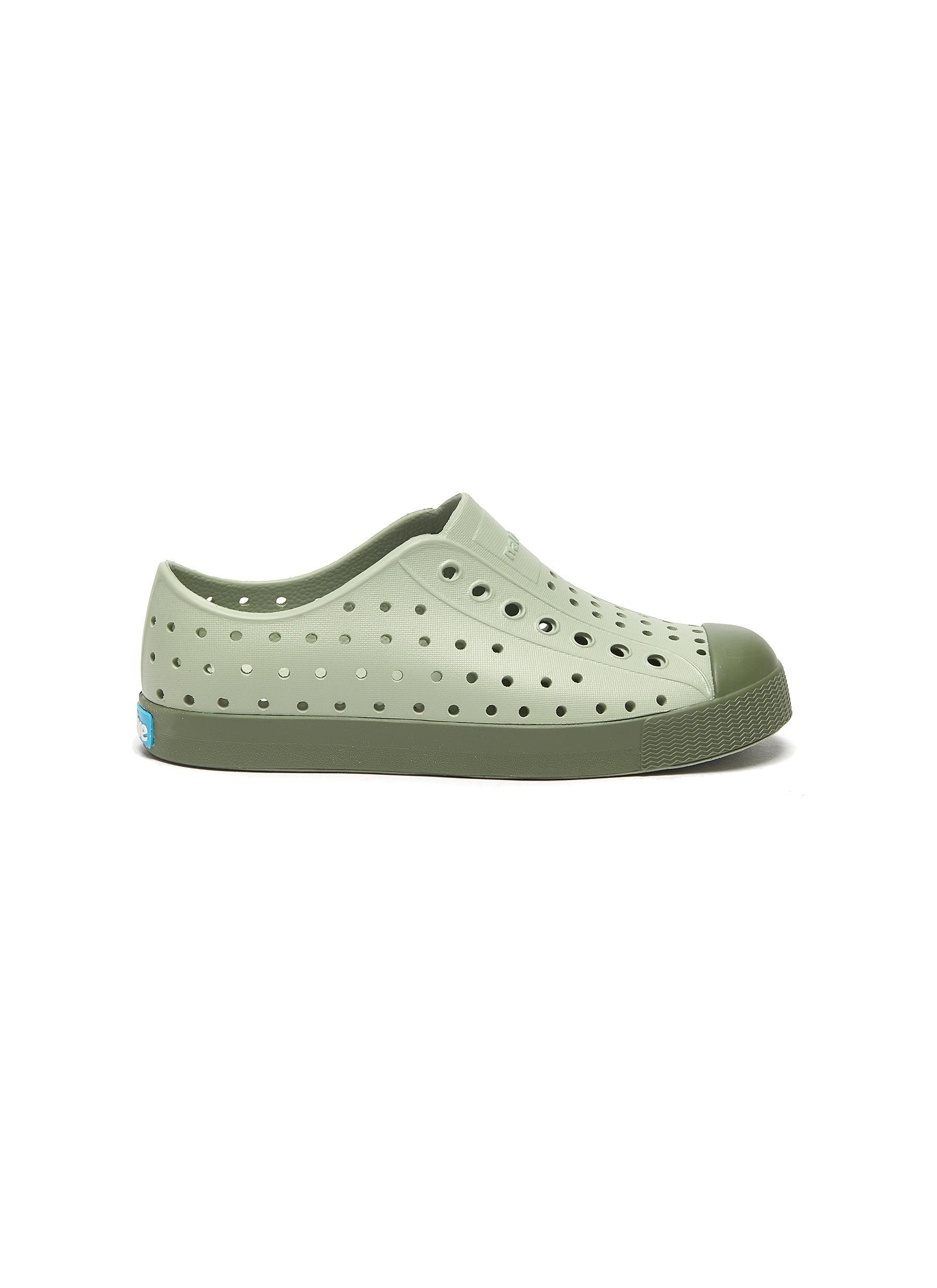 Jefferson' perforated kid slip-on sneakers - NATIVE - Modalova
