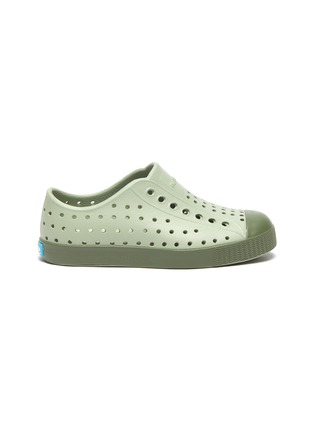 Main View - Click To Enlarge - NATIVE - 'Jefferson' perforated toddler slip-on sneakers