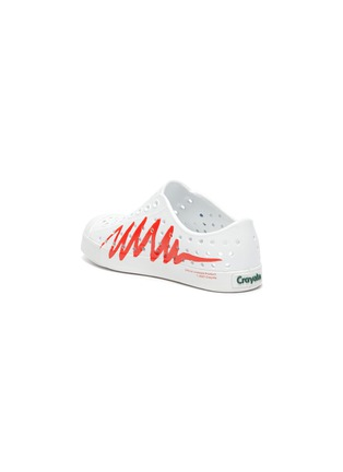 Detail View - Click To Enlarge - NATIVE - Jefferson Crayola' perforated zig-zag print toddler slip-on sneakers