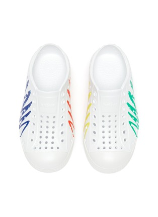Figure View - Click To Enlarge - NATIVE - Jefferson Crayola' perforated zig-zag print toddler slip-on sneakers