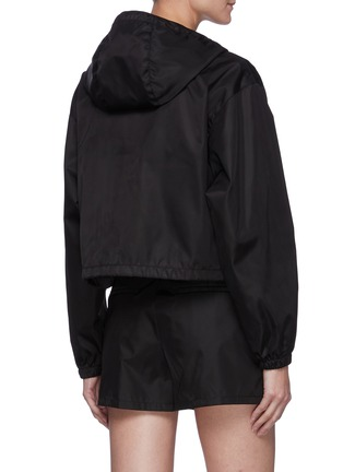 Back View - Click To Enlarge - PRADA - Cropped Windbreaker with Triangular Pouch