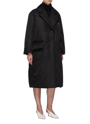 Detail View - Click To Enlarge - PRADA - Re-Nylon Belted Down Coat