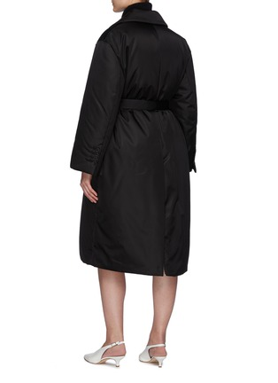 Back View - Click To Enlarge - PRADA - Re-Nylon Belted Down Coat