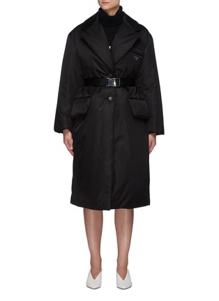 Main View - Click To Enlarge - PRADA - Re-Nylon Belted Down Coat