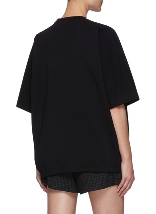 Back View - Click To Enlarge - PRADA - Oversize Re-Nylon Front Insert Tee