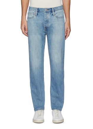 Main View - Click To Enlarge - FRAME DENIM - 'Selvedge' light wash straight cut jeans