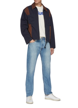 Figure View - Click To Enlarge - FRAME DENIM - 'Selvedge' light wash straight cut jeans