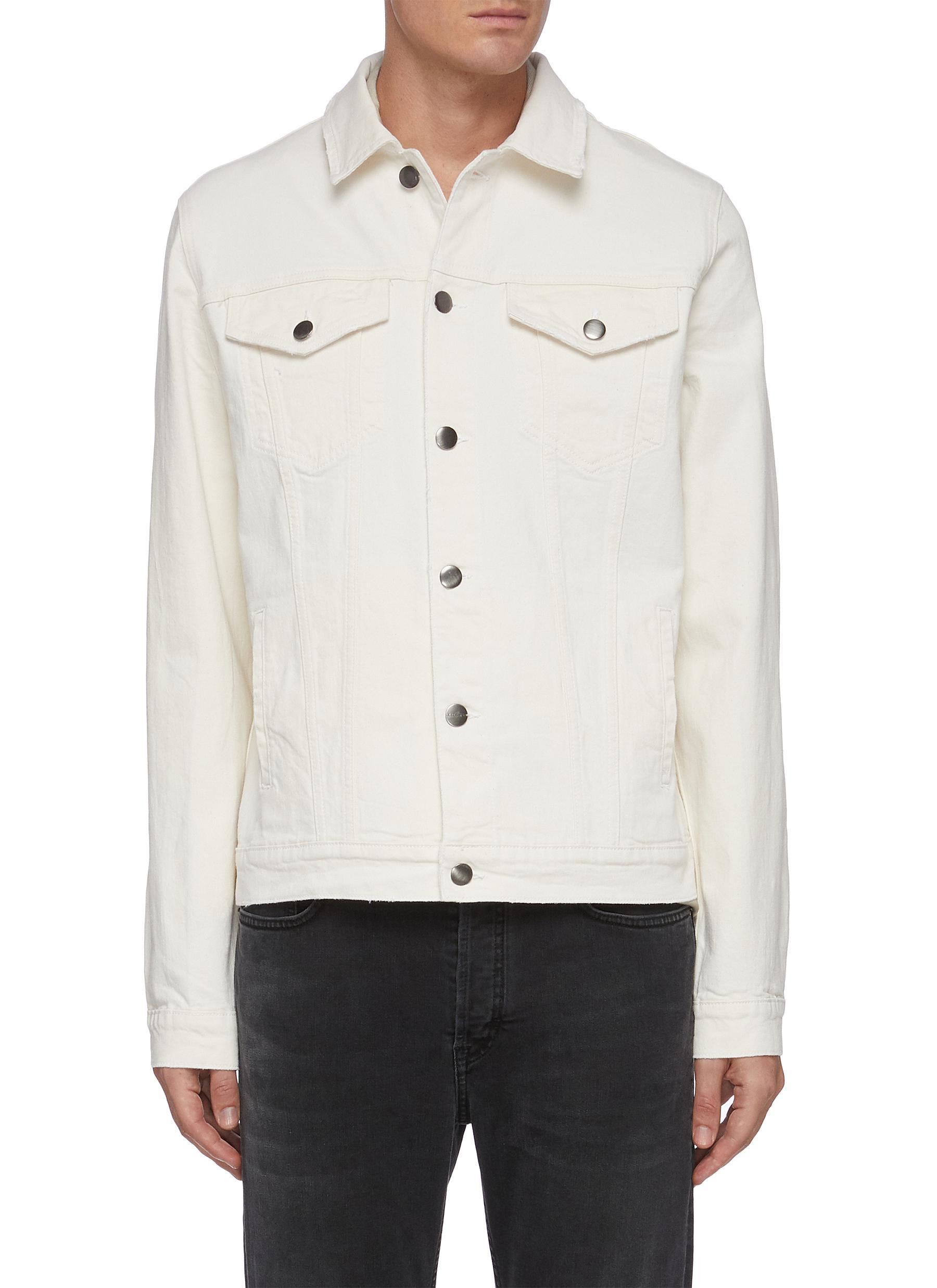 'L'Homme' Flap Pocket Denim Jacket