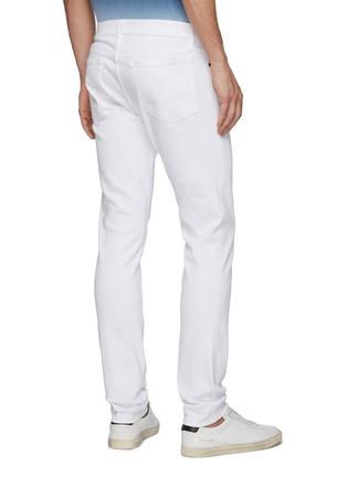 Back View - Click To Enlarge - FRAME DENIM - 'L'Homme' Distress Detail Unwash Skinny Jeans