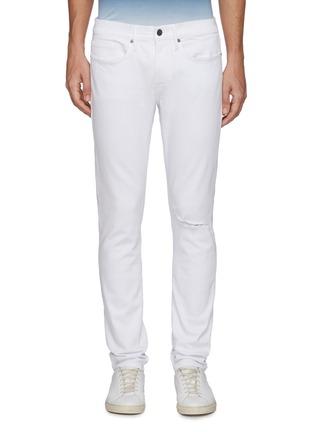 Main View - Click To Enlarge - FRAME DENIM - 'L'Homme' Distress Detail Unwash Skinny Jeans
