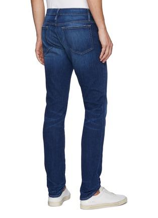 Back View - Click To Enlarge - FRAME DENIM - 'L'Homme' skinny whiskered denim jeans