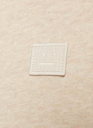 - ACNE STUDIOS - Face patch organic cotton zipped hoodie