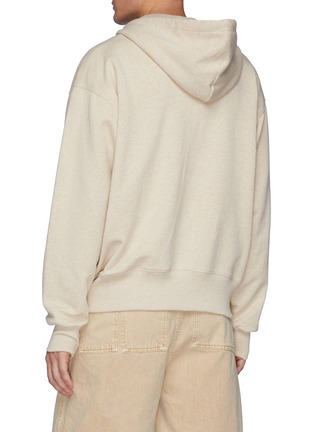 Back View - Click To Enlarge - ACNE STUDIOS - Face patch organic cotton zipped hoodie
