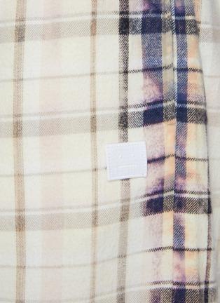 - ACNE STUDIOS - Face Patch Bleach Detail Plaid Cotton Basketball Shorts
