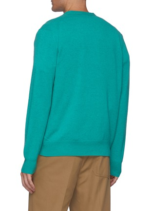Back View - Click To Enlarge - ACNE STUDIOS - Keve' Face Logo Wool Cardigan