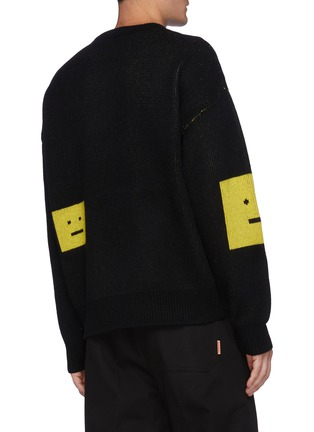 Back View - Click To Enlarge - ACNE STUDIOS - Face Intarsia Sweater