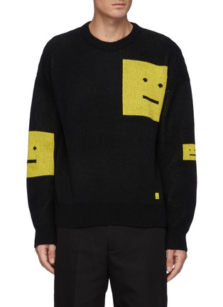 Main View - Click To Enlarge - ACNE STUDIOS - Face Intarsia Sweater