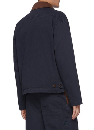 Back View - Click To Enlarge - ACNE STUDIOS - Bicolour Panel Face Patch Workwear Jacket
