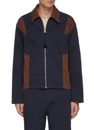 Main View - Click To Enlarge - ACNE STUDIOS - Bicolour Panel Face Patch Workwear Jacket