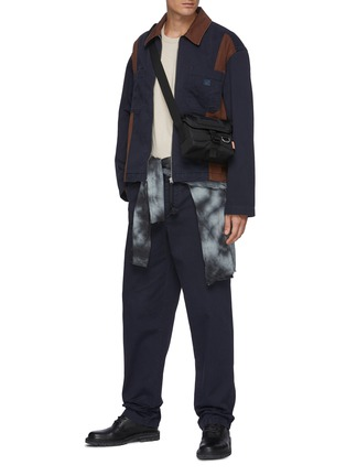 Figure View - Click To Enlarge - ACNE STUDIOS - Bicolour Panel Face Patch Workwear Jacket