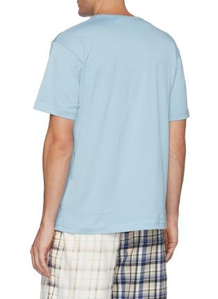 Back View - Click To Enlarge - ACNE STUDIOS - Face Patch Organic Cotton Crewneck T-shirt